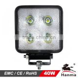 3000lm LED work light 40W, CE, RoHs, IP67, Emark approval, for mining, agricultural and heavy duty machine
