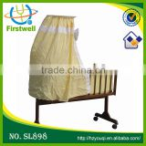 hottest sales hanging baby crib with cradle with CE standard