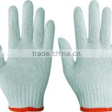 10inches white 100% pure cotton knitted labor protective gloves/safety cotton gloves 600g
