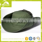 OEM olive bucket hat with string flag label bucket hat/sun hat                                                                         Quality Choice