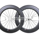 2016 aero designed rims light Full Carbon Bicycle U Shape Wheelset 88mm Road Bike Rims 700C