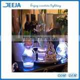 wholesale remote controlled round shape glass shisha hookah led light for crystal decoration