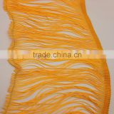 15cm long fringing trim gold yellow polyester fringes tassels for clothing