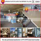 CE certified Automatic wpc/pvc plastic recycled construction/door/floor/furniture/advertising crust foam sheet machine