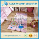 Pink base bird pattern forest design child's play hand tufted rug for living room