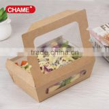 Take out brown food grade kraft paper take out food box with design for sald,noodle and sushi                                                                         Quality Choice