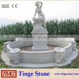 Outdoor Sex Girl And Lion Stone Water Fountain