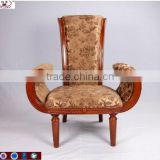 2016 top sale upholstery high back king chair