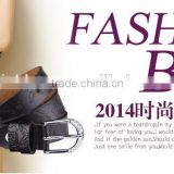 Korea style fashion ladies and women genuine leather carving slim waist belt with diamond ans needle buckle