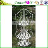 Classical Outdoor Metal Vintage Wrought Iron 3 Tier Corner Garden Shelf For Home Decoration Patio TS05 G00 C00 X00 PL08-4907