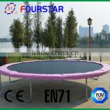 Hot Selling 13ft Spring in ground Trampoline round for Adults with Safety Net TUV-GS Approved