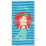Red Orange Hair Mermaid Personalized Kids Beach Towel