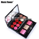 Music flower brand Makeup Set Lip Gloss & Blush Palette Long Lasting Matte Lipsticks Bronzer Face Blusher Min