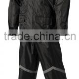 Durable 190T Pvc Coating Motorcycle Rainsuit (jacket and pant) With Reflective Tape Hot Selling