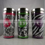 16oz Double wall paper inserted stainless steel travel mug/custom printed travel mugs