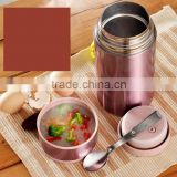 1000ml food jug, vacuum food container with soup spoon in the cap, hot sell wholesale in China