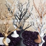 2015 hot wholesale fake trees for wedding table decoration/artificial tree without leaves/artificial autumn tree