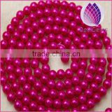 Hot selling 10mm immitation pearl ABS plastic round plastic beads chain for clothing and christmas decoration
