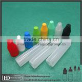 10ml 15ml PE plastic pen shape dropper bottle 30ml clear black unicorn bottle with childproof cap for eliquid