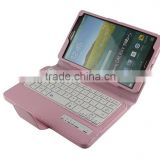 Litchi Pattern Wireless Mini Bluetooth Keyboard for Samsung TABS 8.4inch T700/705-SA04