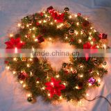 2014 Yiuwu Aimee supplies wholesale artificial christmas wreaths,christmas wreath (AM-LJ06)