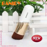 Top Selling Customized Powder Blush Buffing Cylinder Wood Handle Angular Cosmetic Brush