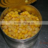 Canned sweet corn12x212ml in metalic can, normal lids