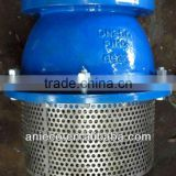 cast iron foot valve with strainer of ss