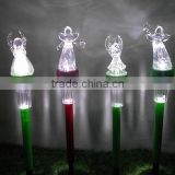 cheap plastic angel outdoor decoration 6H timer led garden light