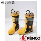 firefighter safety rubber shoes steel toe fire retardant security fireman foot protected boots