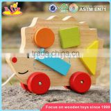 wholesale children animal toys wooden magnetic blocks top fashion kids wooden magnetic blocks W05B133