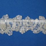 Indian heavy beaded sari lace trimming border trim for evening dresses