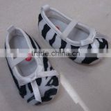 cute zebra infant shoes