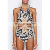 Sexy Women Halter Cut Out One-Piece Swimwear Swimsuit Bathing Suit NP000003