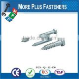 Made in Taiwan Drilling lag screw hex head lag screw hex lag bolt