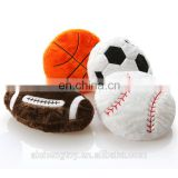 fashion ball shape pillow football and basketball plush stuffed toy pillow