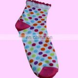 Colorful round dot jacquard Christmas children's gift socks