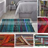 Wholesale Indian Handmade Chindi Rug carpet for living room Soft 100% Cotton Home Decor 5'x3' rugs