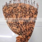 orange circular rayon scarf