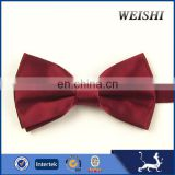 fashion wine plain hot sale bow tie for men