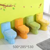 Small size ceramic one piece colorful children toilet wc