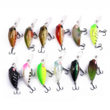 TSURINOYA DW40 32mm/2.7g MINI Crank Diving Depth 1.8m Lure Bait Artificial Bait Hard Bait Fishing Lure BKK Treble hooks