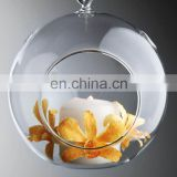 Clear Glass Ball Hanging candle holder