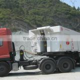 Dongfeng tractor truck and tipper semi-trailer LW