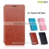 2016 MOFi Case Funda Celular Housing for Xiaomi Mi Max, Mobile Handset Coque Flip Leather Back Cover for Xiaomi Max