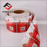 Advertising self-adhesive pesticide printed label, custom shape PVC sticker,die cut PVC stickers