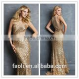 New Arrival Sexy Sheath Gold Sequins Sexy African Evening Dresses, Evening Dress Alibaba China