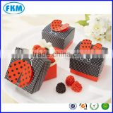 50X Ladybug Pattern wedding favors candy box Baby shower Gift Boxes 5.7*5.7*3.7