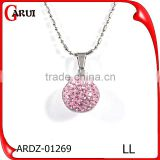 allibaba com gem crystals pink ball pendant necklace