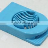 COLORFUL PLASTIC ROUND & REC EGG SLICER, ABS+STAINLESS STEEL, WITH COLOR BOX